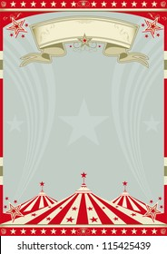 Circus retro big top. A retro circus background for a poster