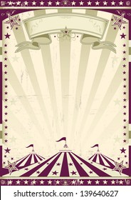 Circus retro style. A circus retro poster for your advertising