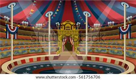 Circus ring carnival tent big top acrobat trapeze marquee. Amusement family theme park circus banner & Circus Ring Carnival Tent Big Top Stock Vector (Royalty Free ...