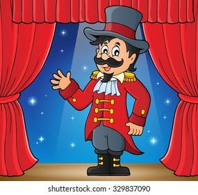 Circus ringmaster theme image 2 - eps10 vector illustration.
