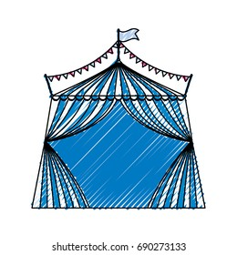 Circus striped tent