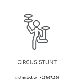 Circus stunt linear icon. Modern outline Circus stunt logo concept on white background from Circus collection. Suitable for use on web apps, mobile apps and print media.