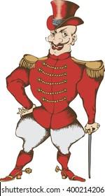 Circus tamer. vector illustration