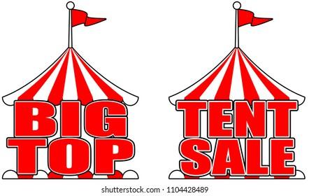 Circus tent big top sale sign poster