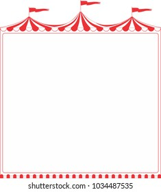Circus tent big top vector blank sign with copy space