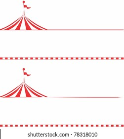 Circus tent border.  Ideal for signs, posters, billboards, carnival signs, and advertisements