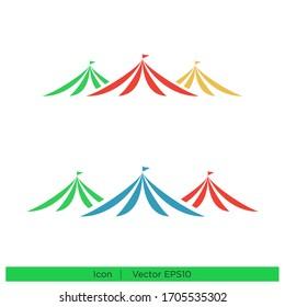 circus tent icon design element logo template vector eps 10