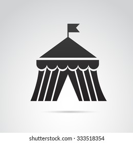 Circus tent icon isolated on white background. Vector art.