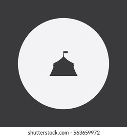 Circus Tent icon silhouette vector illustration