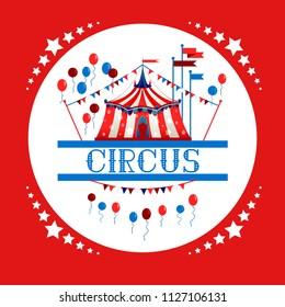Circus tent logo