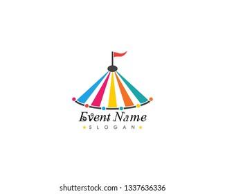 Circus tent logo template