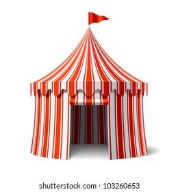 Circus tent. Vector.