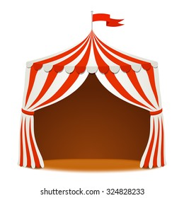 Circus tent. Vector background