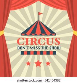 Circus theme poster design, Carnival poster