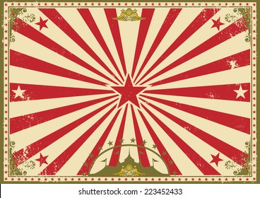 circus vintage horizontal background. A circus vintage poster for your advertising. Perfect size for a screen.