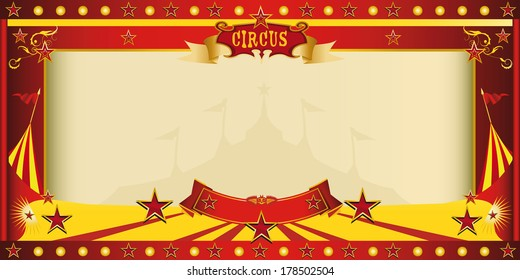A circus vintage invitation for your publicity