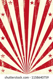 a circus vintage poster with sred unbeams for your advertising.