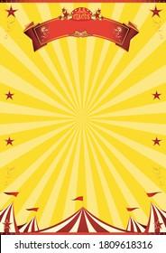 Une affiche vintage de cirque avec des poutres en bois pour votre divertissement