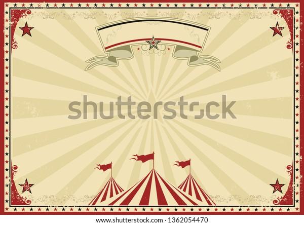 une affiche vintage de cirque pour votre publicité.