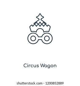 Circus Wagon concept line icon. Linear Circus Wagon concept outline symbol design. This simple element illustration can be used for web and mobile UI/UX.