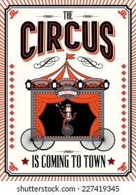 circus wagon template vector/illustration