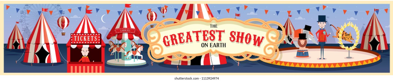 circus/carnival template vector/illustration