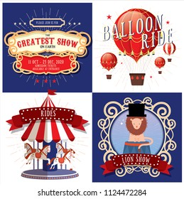 circus/carnival/fairground design template vector/illustration