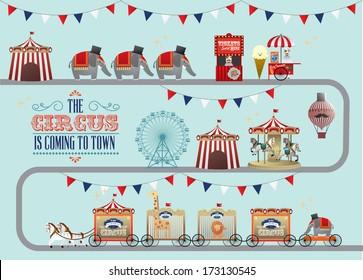 circus/fun fair/fairground/carnival vector/illustration