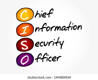 CISO - Chief Information Security Officer acronym, business concept background