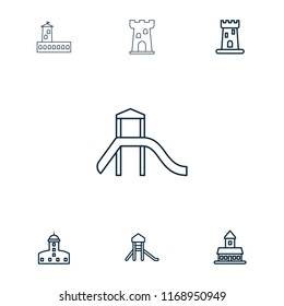 Citadel icon. collection of 7 citadel outline icons such as . editable citadel icons for web and mobile.