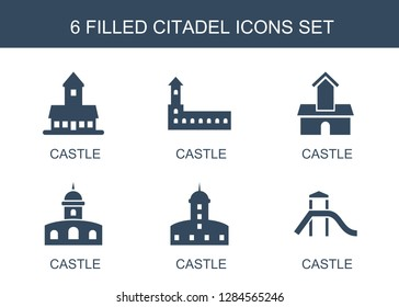 citadel icons. Trendy 6 citadel icons. Contain icons such as castle. citadel icon for web and mobile.