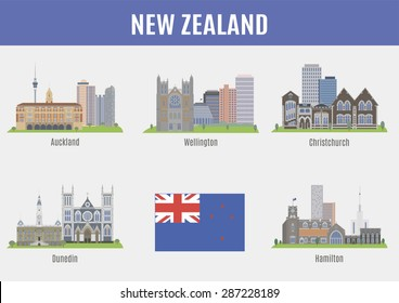 Cities in New Zealand. Famous Places New Zealand cities