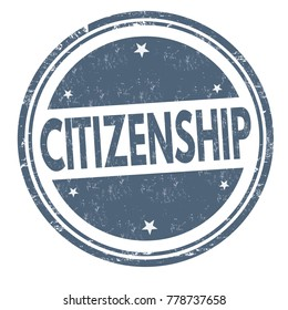 Citizenship grunge rubber stamp on white background, vector illustration