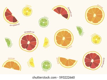 Citrus Fruits Pattern