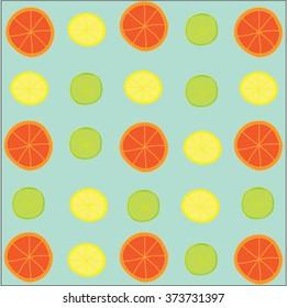 Citrus pattern on th emint background
