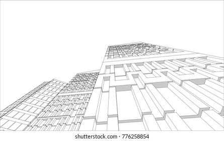 city, 3d illustration