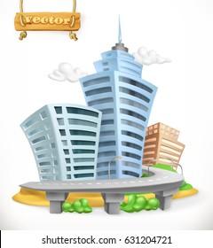 City, 3d vector icon