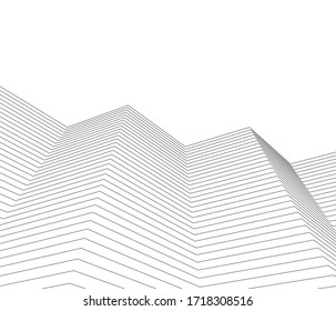 city ​​abstract architecture 3d illustration vector background