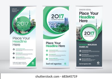 City Background Business Roll Up Design Template Set.Flag Banner Design. Can be adapt to Brochure, Annual Report, Magazine,Poster, Corporate Presentation,Flyer, Website