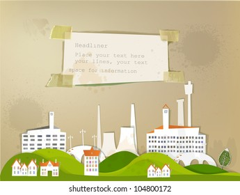 city background made of paper