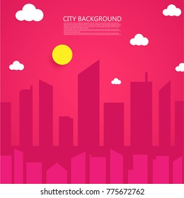 City background in night scene. Element for design, advertising, promotion of dairy products. Vector illustration.