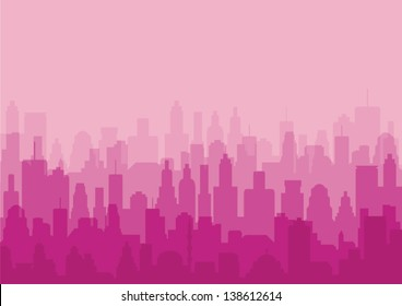 City Background pink