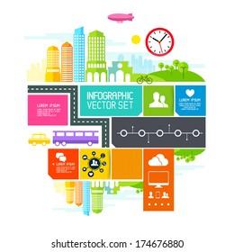 City Blocks  - Vector illustration design elements.