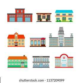 City Builder set. Public buildings