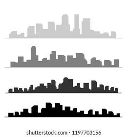 City building silhouette. Cityscape background vector