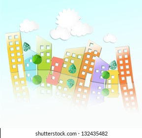 city building stock vector