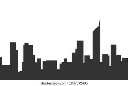 city silhouette with building view