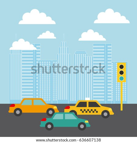 fce06a0131 Royalty-free stock vector images ID  636607138. city buildings cars traffic  light clouds image - Vector