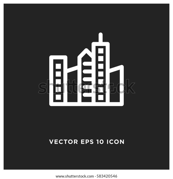 City buildings vector icon