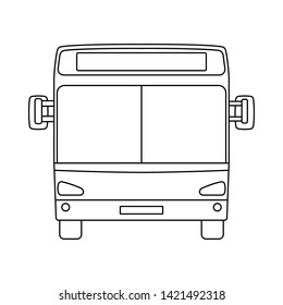 City Bus Icon. Outline Simple Design. Vector Illustration.